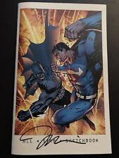 JIM LEE ALL STAR SKETCHBOOK SIGNED BATMAN SUPERMAN WONDER WOMAN 592/1500