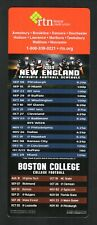 New England Patriots--Boston College Eagles--2019 Football Magnet Schedule--RTN