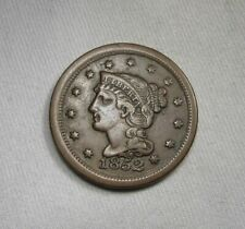 1852 Braided Hair Large Cent Xf Coin Aj111