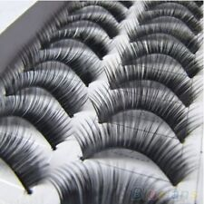 10 Pairs Handmade Natural Thick False Eyelashes Long Eye Lashes Extension Makeup