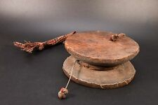 Antique Damaru ritual kapala damru Tibetan Himalayan Spiritual Ceremonial Drum