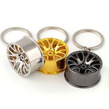 1pc Cute Car Metal Wheel Keychain Keyfob Engine Fob Key Chain Ring Keyring