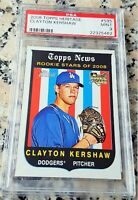 CLAYTON KERSHAW 2008 Topps #1 Draft Pick Rookie Card RC PSA 9 MINT Dodgers HOT $