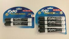 Expo 80661c Amp 80152 Low Odor Dry Erase Markers Chisel Tip Black 42 Count
