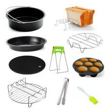 6/7inch Air Fryer Accessories Frying Cage Dish Baking Pan Rack Tray Set of 10