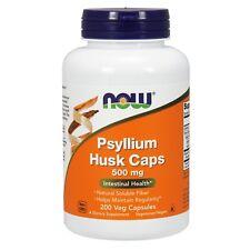 NOW Foods Psyllium Husk, 500 mg, 200 Capsules