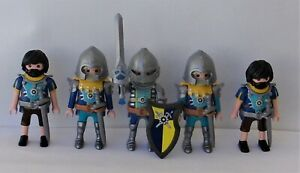 Playmobil Novelmore   5 x Assorted Novelmore Castle Knights   Good Condition