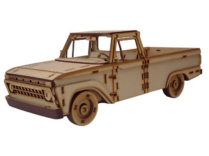 3D Wooden Puzzle - Craft Model Kit for Adults and Kids - 1965 Ford Pickup Truck