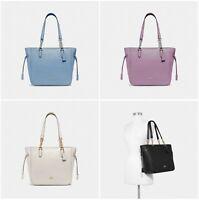 New Coach Elle Chain Tote Pebble Leather Shoulder Bag F72650