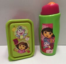 DORA THE EXPLORER 450ML SPORTS CANTEEN DRINK BOTTLE  & SNACK BOX