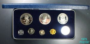 PHILIPPINES PROOF SET 1975 in original case FREE SHIPPING IN UNITED STATES