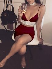 Women's Bandage Bodycon Sleeveless Evening Party Cocktail Club Short Mini Dress