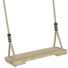 Schaukel, Schaukelsitz aus Holz mit verstellbaren Seilen