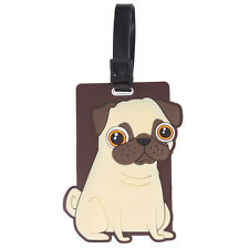 Pug Luggage Tag Essential Travel Accessory and Fabulous Gift Idea