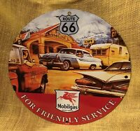 "VINTAGE STYLE ""MOBILGAS'' ROUTE 66  GAS & OIL PUMP PLATE PORCELAIN SIGN 12 INCH"