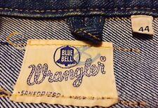 Vintage Harley Davidson Patch Motorcycle Wrangler Blue Bell Denim Jacket. Sz. 44
