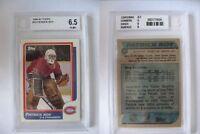 1986-87 Topps #53 Patrick Roy RC BGS 6,5 EX-MT+ Rookie SICK RARE Canadiens