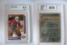 1986-87 Topps #53 Patrick Roy RC BGS 6,5 EX-MT+ Rookie SICK RARE Canadiens