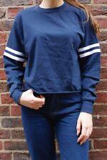 New! Brandy Melville navy blue long sleeve Crewneck Gretchen Top NWT S/M