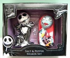 Nightmare Before Christmas Salt & Pepper Shaker Set ~ Jack Skellington and Sally