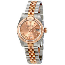 Rolex Oyster Perpetual Lady Roman Diamond Dial Automatic Watch 179171PDRJ