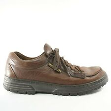 Mephisto Mens Leather Walking Sneaker Shoes Size 10.5 Brown Lace Up