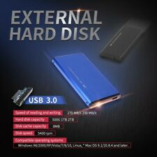 "Ultra Slim Portable 2.5"" External 1TB Hard Disk* Drive USB 3.0 Data Transfer HDD"