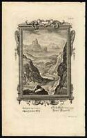 Antique Biblical Print-CREATION-DAY THREE-EARTH-SEA-LAND-Tab VI-Scheuchzer-1731