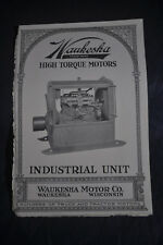 Ca 1920 Waukesha High Torque Motors Industrial Unit Brochure