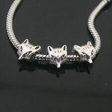 8pcs Tibetan Silver animal spacer Beads Fit European charm  Bracelet  L0152
