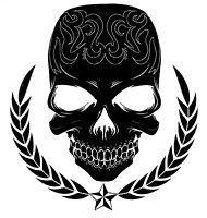 TRIBAL SKULL BLACK BRAND NEW DESIGN - X-LARGE 9994 Temporary Tattoo