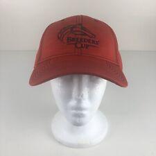 New Official Louisville KY Breeders Cup Heat Embossed Hat Red Black Adjustable