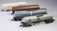 4 Güterwagen AC Roco: BASF, VTG, Schiebewand + Piko KVC Kesselwagen