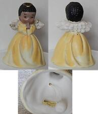 """Giftco Inc Ceramic Angel Bell 3.5"""" Tall African-American"""