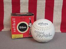 """Vintage Wilson Offiziell Oberteil Kerbe Softball 12 """" Neue W / Original Verpackt"""