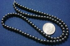 "AAA Quality natural Hematite beads 4mm round 16"" strand, approx. 100 beads bs002"