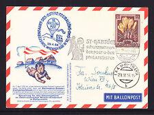 AUSTRIA 1956 BALOON POST CARD.