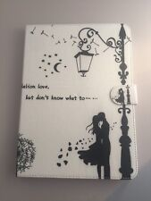 For iPad Air 2/ iPad 6 Leather Folding Case Cover WHITE DANDELION KISS NEW