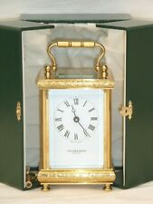 Superb, Taylor & Bligh 8 Day Solid Brass Hand Carved Carriage Mantle Clock