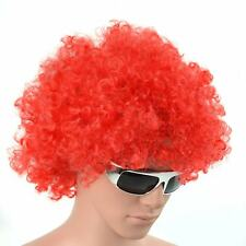 RED CURLY AFRO WIG FANCY DRESS PARTY COSTUME ACCESSORY DISCO CLOWN UNISEX 70S