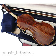 Nice Sound 4/4 Higher flamed Violin+Bow+Rosin+Square Case+String Set #AQ100