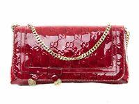 GUCCI pochette da sera borsa da donna a spalla vernice guccissima chain 257611
