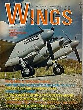 WINGS V2 N4 AUG 1972 WW2 LUFTWAFFE HEINKEL He 177 GREIF / RAF MOSQUITO / HAWK 75