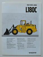 VOLVO Wheel Loader L180C 1997 dealer brochure catalog - English - USA