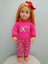 18 INCH DOLL OUTFIT - Santa's Little Helper Pyjamas - Fits Our Generation,DAF,AG