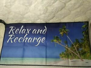VAAVEi Relax And Recharge Designer Microfiber Towel Set with Zippered Case Beach