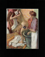 Art Masterpiece - Bookplate/Lithograph - After the Bath by EDGAR DEGAS