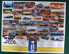 DeTomaso Pantera & Mangusta Poster POCA HUGE! 32 x 27