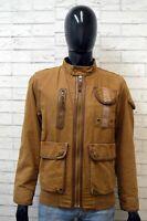 Giubbotto TIMBERLAND Uomo Taglia M Giubbino Jacket Giacca Cotone Jacke Marrone