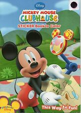 """Disney Mickey Mouse Clubhouse Sticker Book To Color, """"This Way To Fun!"""",  2010"""